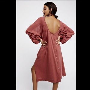 Free People rosy brown Oversized Swing Dress M/L
